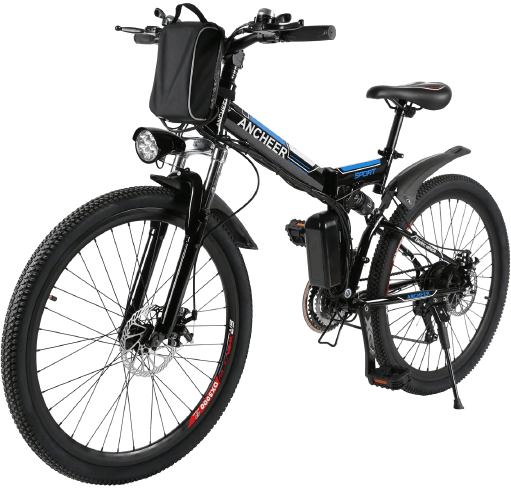 ANCHEER Folding Electric Mountain Bike with Large Capacity Battery
