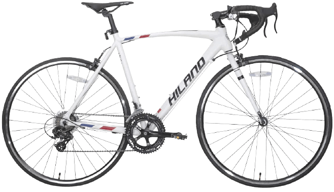 <strong><strong>Hiland Road Bike Aluminum Frame 700c Racing Bike with 14 Speeds</strong></strong>